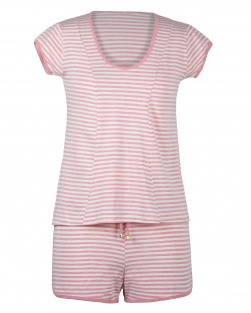 Pijama Blusa E Short Floralistas Coral