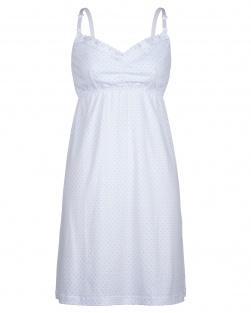 Camisola Mãe Branco De Poá Azul