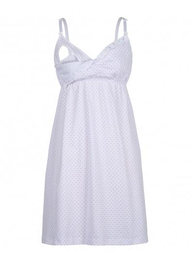 Camisola Mãe Branco De Poá Rosa
