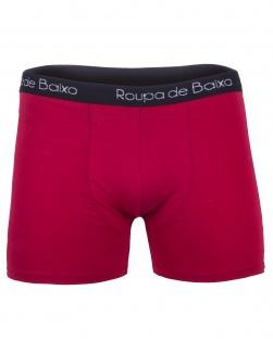 Cueca Boxer Masculina em Algodão Vermelho