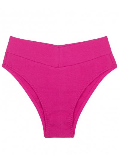 Calça Cós Em Cotton Pink