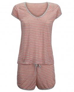 Pijama Blusa E Short Floralistas Laranja