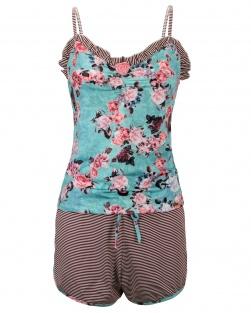 Pijama Camisete Xodó do Verão Marrom