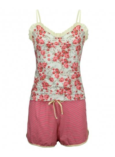 Pijama Camisete Xodó do Verão Vermelho