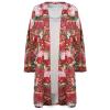 Conjunto Kimono Camisola Nude / Vermelho