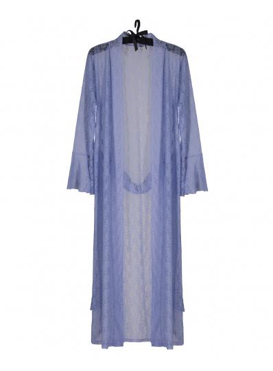Kimono Atena Em Renda Lavanda