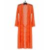 Robe Kimono Laise Em Renda Laranja Fluor