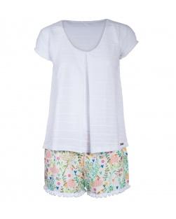 Pijama Blusa E Short Pom Pom